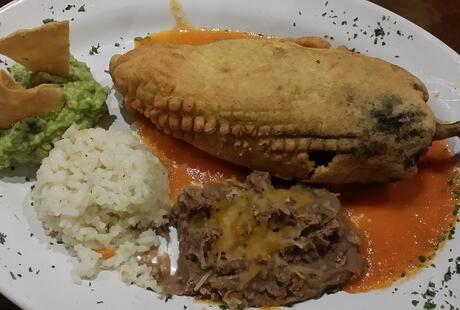 Chile Rellenos at Cerritos Beach Inn