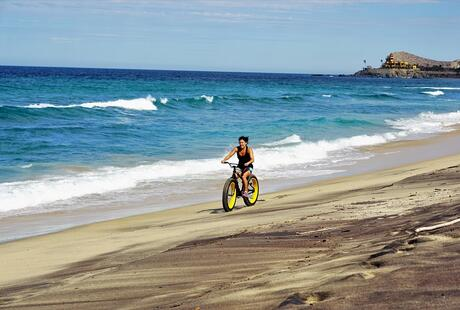 Fat Tire Bike Ride on Cerritos Beach