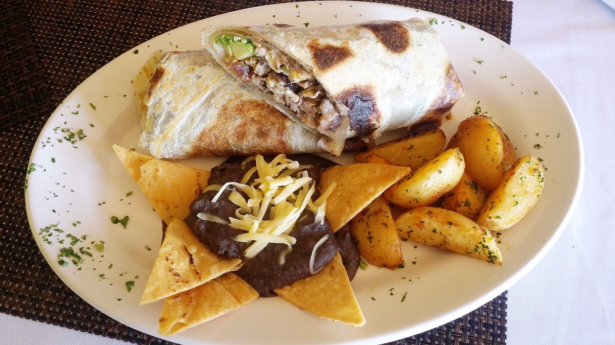 Breakfast Burrito at Cerritos Beach Inn